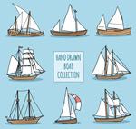 手绘帆船设计