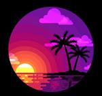 大海棕榈树风景