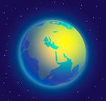 发出光芒的地球