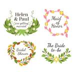 花卉婚礼标签
