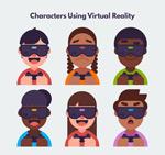 戴VR头显头像