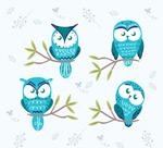 蓝色猫头鹰