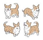 手绘可爱狗