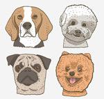 彩绘宠物狗头像