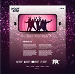 紫色背景网站页面