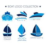 蓝色船舶标志