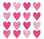 粉色花纹爱心