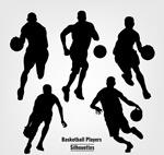 篮球人物剪影