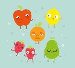 搞怪表情水果