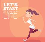 跑步健身女子矢量