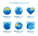 蓝色海浪标志