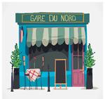 彩绘巴黎街边餐馆