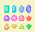彩色宝石贴纸