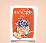 花束母亲节祝福卡