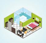 立体房屋内部图