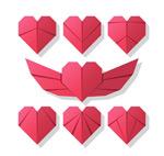 红色折纸爱心