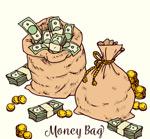 装满钱币的袋子