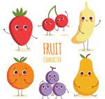 卡通可爱表情水果