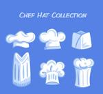 白色厨师帽矢量