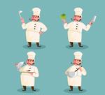 男厨师动作矢量