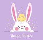 复活节兔子和小鸡
