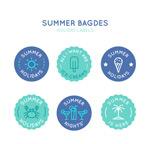 夏季度假徽章标签