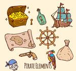 彩绘海盗元素