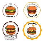 彩绘汉堡包标志