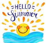 彩绘可爱夏季太阳