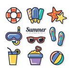 夏季物品元素