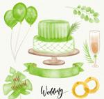 绿色婚礼元素