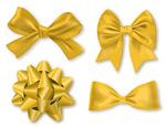 金色质感丝带