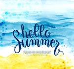 你好夏季沙滩大海