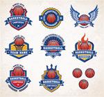 篮球队队徽矢量