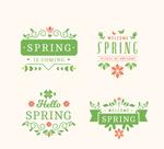 春天绿色标签