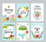 春天花卉装饰卡片