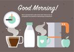早餐食物插画