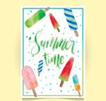 夏季雪糕卡片