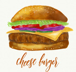 美味芝士汉堡包