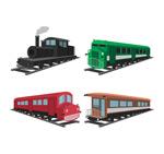 彩色老式火车
