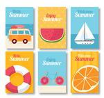 彩色夏季卡片