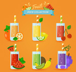 扁平化杯装果汁