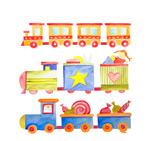玩具小火车矢量