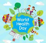 世界健康日矢量