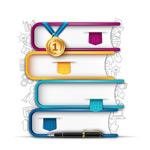书本元素信息图