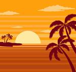 大海和棕榈树