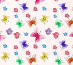 花卉和蝴蝶背景