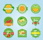 绿色果汁标签