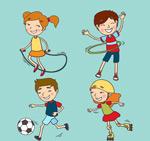 玩耍的快乐儿童