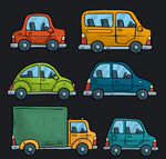彩色车辆侧面